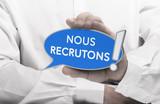 Nous recrutons, message doffres demploi en français