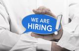 Now Hiring Message, Recruitment Concept