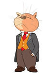 Illustration of a Cute cat,. Cartoon Character