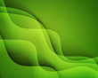 Abstract vector template design with colorful green waves backgrounds