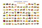 collection of fruits as background