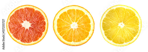Citrus fruit. Orange, lemon, lime, - 137255727