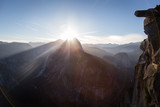 Sunrise over Half Dome from Glacier Point