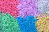 Colorful sand, powder paint close up macro