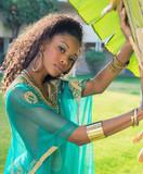 Beautiful exotic African American woman