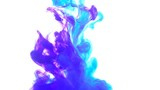 Ink color violet and blue motion