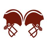pair of american football helmet vector illustration