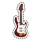 electric guitar musical instrument icon over white background. colorful design. vector illustration
