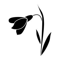 amaryllis flower decorative icon pictogram vector illustration eps 10