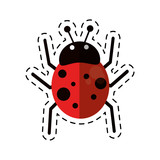 cartoon ladybug fly antenna animal vector illustration eps 10