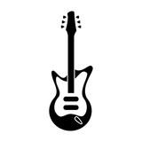 electric guitar musical instrument pictogram vector illustration eps 10