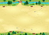 Nature background for games with endless sides.