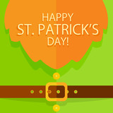 Patrick Day background with leprechaun costume