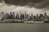 New York City Manhattan skyline of the city taken from the river