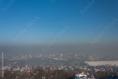 Papiers peints Cracovie Smog in Cracow, Poland