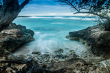 Playa Blanca, Rafael Freyre, Holguin, Cuba. Ocean front dawn.