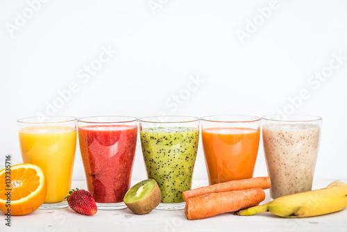 Fotobehang Sap Fruit smoothies