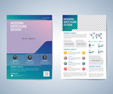 Business brochure, leaflet, flyer, annual report, cover design template. vector background. layout A4 size.
