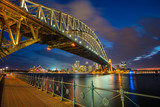 Sydney. Cityscape image of Sydney, Australia with Harbour Bridge during twilight blue hour.