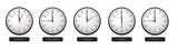 Fototapety Business Concept - Time Zone Clocks