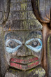 Face on Old Totem