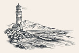 Lighthouse vector drawing - 137346707