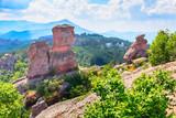 Landscape with high cliff rocks, near Belogradchik, Bulgaria