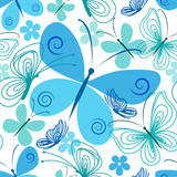 Blue and turquoise butterfly