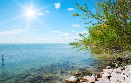 Lake Balaton in spring time, Hungary Poster