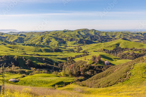 California Coastal Mountain Landscape in Spring