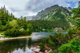 Lake in Popradske Pleso, Slovakia. Beauty world