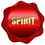 spirit, 3D rendering, red wax stamp with text