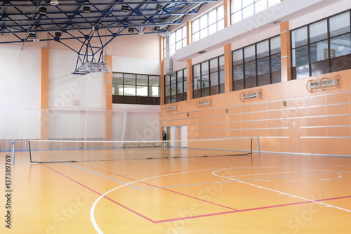 Fototapeta Interior of a tennis hall