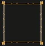 Vector geometric frame in Art deco frame for decorative design, invitation, label, banner. Vector illustration