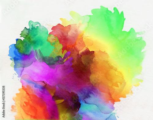 aquarell regenbogen abstrakt verlauf - 137395338