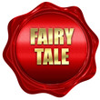 fairy tale, 3D rendering, red wax stamp with text