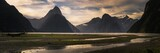 Panorama of Milford Sound Fiord in New Zealand