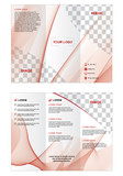 minimal vector Brochure design, brochure template, creative tri fold, trend brochure