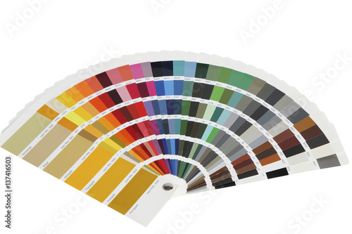 Poster collection of ral colours isolated on white background