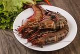 Raw big tiger prawn