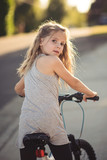 Young girl on a bicycle