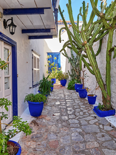 Hydra island, Greece, picturesque alley