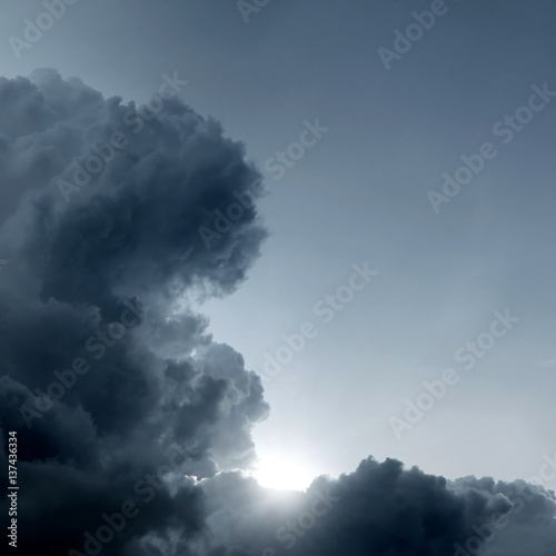 Cloudscape with Ray of Light