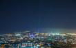 Barcelona night panoramic view