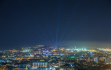 Barcelona night panoramic view
