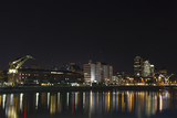 Buenos Aires, Argentina. Puerto Madero by night. it's a district at Buenos Aires, occupying a portion of the Río de la Plata riverbank and representing the latest architectural trends in Buenos Aires