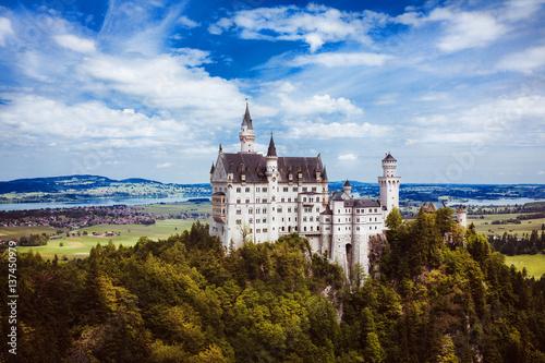 Plakat castle germany bavaria alps travel