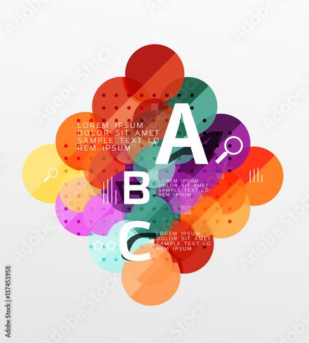 Poster Geometrische dieren Circle geometric abstract background