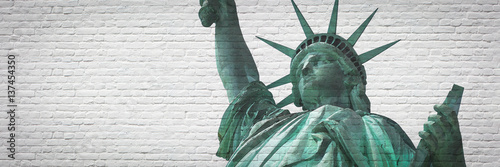 """Poster Statue of liberty with """"street art effect"""" - New York City"""
