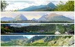 Photo collage with shots of places and nature of High Tatra mountains.